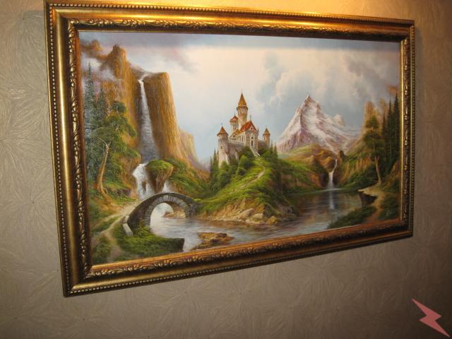Картина художника неформала А. Стрелкова, МОСКВА