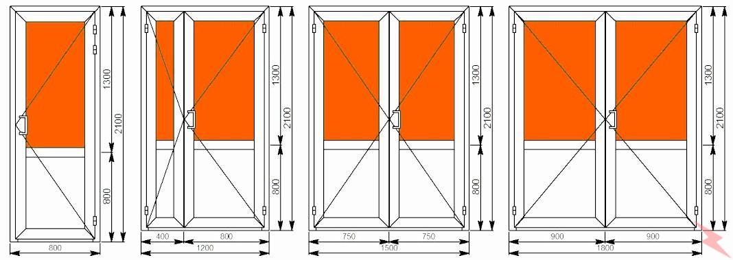 Двери из алюминиевого профиля, Краснодар