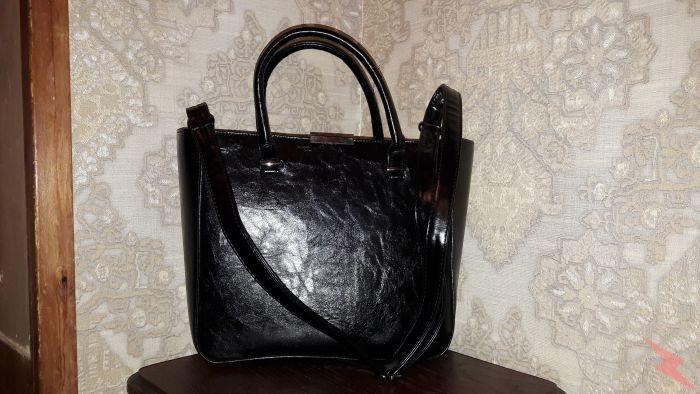Элегантная черная сумка. Среднего размера, на каждый день., МОСКВА