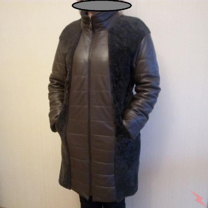 енское, зимнее, кожаное пальто с натуральным мехом ягненка, Дмитров