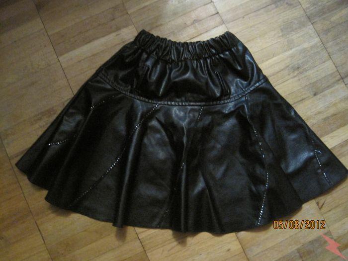 Юбка чёрная с блёстками на выход и для занятия танцами, МОСКВА